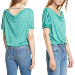 NWT Free People Convertible Neck Palm T-Shirt